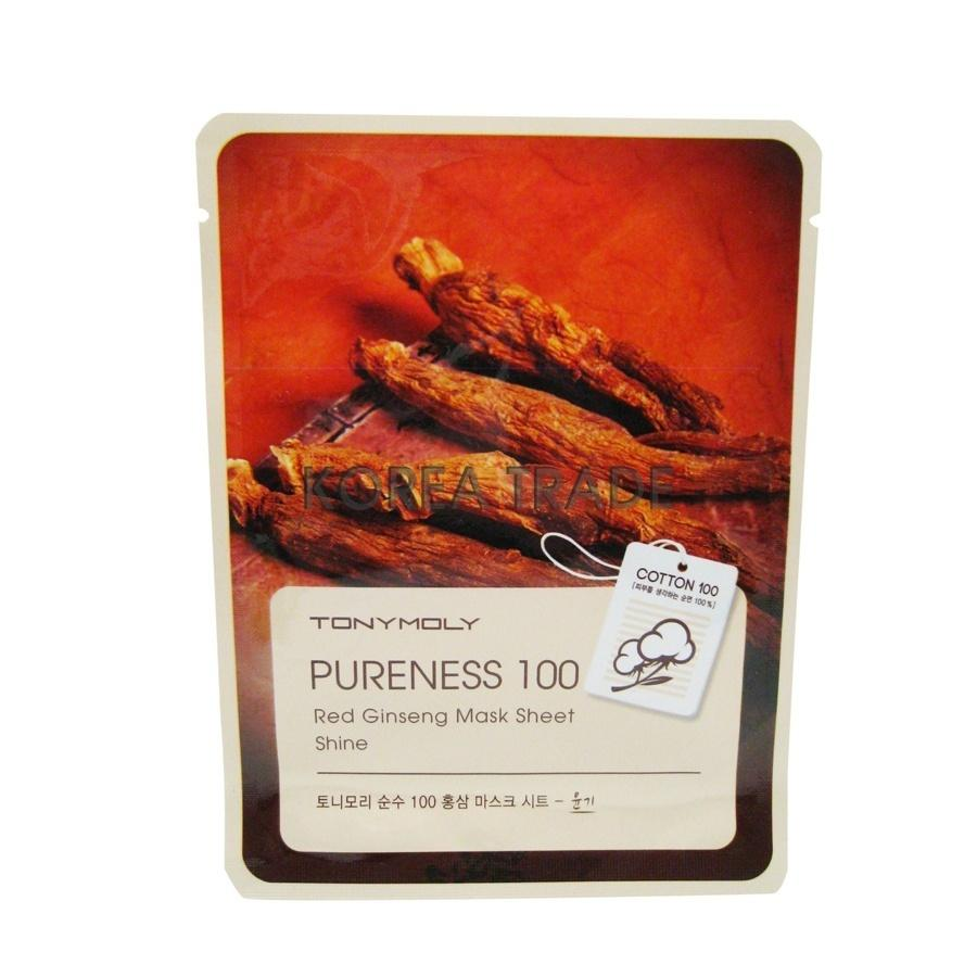 TONY MOLY Pureness 100 Red Ginseng Mask Shine